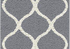 "5 Ft Bath Runner Rug Maples Rugs Rebecca Contemporary Runner Rug Non Slip Hallway Entry Carpet [made In Usa] 1 9"" X 5 Grey White"