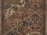 """5 Ft Square area Rugs Heriz Brown Square Hand Knotted 4 7"""" X 5 5"""" area Rug 500"""