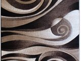 5 Ft X 7 Ft area Rug Modern area Rug 5 Ft 2 In X 7 Ft 3 In Sculpture 258 Chocolate