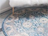 5 Round Blue Rug 5 X 5 Vienna Round Rug