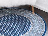 5 Round Blue Rug Blue 5 X 5 soho Round Rug