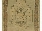 """5 X 11 area Rug Beige Brown All Wool Hand Knotted Vintage area Rug 2 11"""" X 5 7"""" 35 In X 67 In"""
