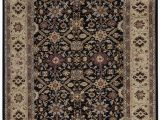 """5 X 11 area Rug E Of A Kind Central Hand Knotted Black Cream 8 5"""" X 11 2"""" Wool area Rug"""