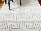 """5 X 7 Outdoor area Rugs Seville Rug Color White Gray Size 5 X 7 6"""""""