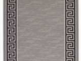 """5 X 8 area Rugs with Rubber Backing Meander Design Printed Slip Resistant Rubber Back Latex Runner Rug and area Rugs 5 Colour Options Available Grey 1 8"""" X 4 11"""""""