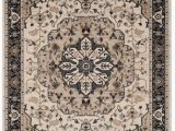 5ft by 7ft area Rug Lyndhurst Aiden Cream Navy 5 Ft 3 Inch X 7 Ft 6 Inch