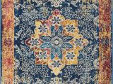 "5×7 area Rugs at Lowes Well Woven Cora Floral Medallion Vintage Blue area Rug 5×7 5 3"" X 7 3"" soft Plush Modern oriental Carpet"