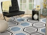 """5×7 Gray and White area Rug Rio Summit 313 Grey Blue White area Rug Modern Geometric Many Sizes Available 5 X 7 2"""" 5 X 7 2"""""""