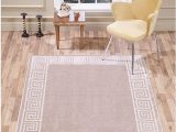 5×7 Latex Backed area Rugs Vcny Home Geo Border area Rug 5×7 Beige