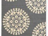 5×7 Non Skid area Rug Rubber Backed Non Skid Non Slip Gray Ivory Color Medallion Design area Rug