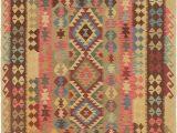 5×7 Rubber Backed area Rug Multicolor 5 5 X 7 Kilim Maymana Rug Rugs