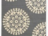 5×7 Rubber Backed area Rug Rubber Backed Non Skid Non Slip Gray Ivory Color Medallion Design area Rug