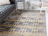 5×8 area Rug In Living Room Gray Gold Marilyn Monroe 5 X 8 Marilyn Monroe™ Glam Deco
