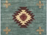 "6 by 10 area Rugs Rizzy Home Collection Wool area Rug 2 6"" X 10 Gray Blue Rust Burgundy Tan Khaki southwest Tribal"
