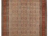 "6 by 6 area Rug E Of A Kind Ferrero Hand Knotted 6 6"" X 9 7"" Wool Cream Red Ochre area Rug"