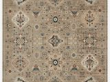 "6 by 6 area Rug Square Koemi oriental Power Loom 1 6"" X 1 6"" area Rug"