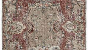 """6 by 6 area Rug Turkish Vintage area Rug 6 6"""" X 10 3"""" 78 In X 123 In"""