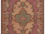 "6 by 6 area Rug Turkish Vintage area Rug 6 6"" X 9 4"" 78 In X 112 In"