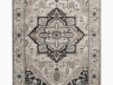 6 by 7 area Rug Adore Milla Whitecap Cement area Rug