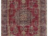 """6 by 7 area Rug Turkish Vintage area Rug 6 7"""" X 10 1"""" 79 In X 121 In"""