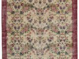 """6 by 7 area Rug Turkish Vintage area Rug 6 7"""" X 10 4"""" 79 In X 124 In"""