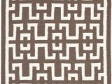 6 Foot by 9 Foot area Rugs Dhurries Shawn Chocolate Ivory 6 Ft X 9 Ft area Rug