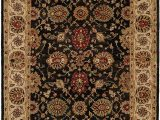 6 Foot by 9 Foot area Rugs Kalaty Empire Em 283 Hand Tufted area Rug 6 Feet by 9 Feet Black Ivory