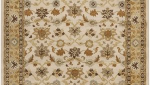 6 Foot by 9 Foot area Rugs Surya Cae 1010 Caesar Beige 6 Feet by 9 Feet area Rug