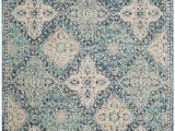 6 Foot Square area Rug Evoke Cara Light Blue Ivory 6 Ft 7 Inch X 9 Ft Indoor