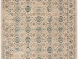 6 Foot Square area Rug Evoke Donna Beige Turquoise 6 Ft 7 Inch X 6 Ft 7 Inch Square area Rug