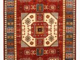 6 Ft by 9 Ft area Rugs Hand Knotted Super Fine Kazak Ghazny Wool 297×202 Cm area Rug Carpet