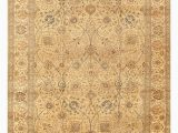 """6 X 5 area Rug E Of A Kind Tabriz Hand Knotted Brown 9 6"""" X 13 5"""" Wool area Rug"""