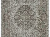 """6 X 8 Gray area Rug Grey Over Dyed Turkish Vintage Rug 5 6"""" X 8 10"""" 66 In X 106 In"""