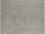 """6 X 8 Grey area Rug Rizzy Home Idyllic Collection Wool area Rug 2 6"""" X 8 Gray Gray Rust Blue solid"""