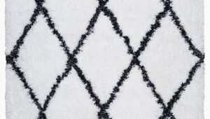 6×9 Black and White area Rug solarte Hand Tufted White area Rug
