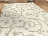 "7 by 10 area Rug Cozy Contemporary Scroll Cream White 7 10"" X 10 Indoor Shag area Rug"