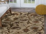 "7 by 10 area Rug Details About Beige Floral Transitional area Rug Leaves 8×10 Carpet Actual 7 10"" X 10 3"""