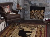 7 by 10 area Rug Universal Rugs Black Bear area Rug 7 10 X 10 3 Brown