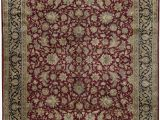 """7 by 12 area Rug E Of A Kind Bikaner Hand Knotted Red Black 12 2"""" X 15 7"""" Wool area Rug"""