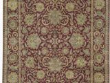 """7 by 12 area Rug E Of A Kind Crown Hand Knotted Red Beige 12 X 15 7"""" Wool area Rug"""