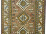 """7 by 12 area Rug Turkish Vintage area Rug 7 7"""" X 12 11"""" 91 In X 155 In"""