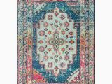 7 by 8 area Rugs Nuloom Blue Indoor Bohemian Eclectic area Rug Common 8 X