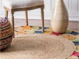 7 Feet Round area Rugs 6 Feet Round Multicolored Braided area Rug Handwoven Extra