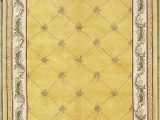 7 Feet Round area Rugs Kas Rugs 0308 Jewel Fleur De Lis Round area Rug 7 Feet 9 Inch Gold