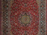 """7 X 13 area Rug E Of A Kind Eitzen Hand Knotted Traditional Style Red Blue 9 7"""" X 13 5"""" Wool area Rug"""