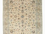7 X 14 area Rug Beige Traditional Persian Kashan Rug 10 7 X 14 4