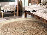 7×7 area Rugs for Dining Room Rug Rag Braided Jute Round Rug Meditation Mat Mandala Rug