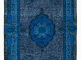 7×9 Blue area Rug 5×9 Blue Over Dyed Rug 5134