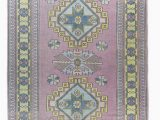 7×9 Blue area Rug 7×9 Colorful Vintage Turkish area Rug