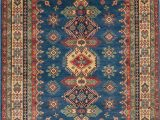 7×9 Blue area Rug Kazak Blue Hand Knotted 68 X 93 area Rug 700 112437